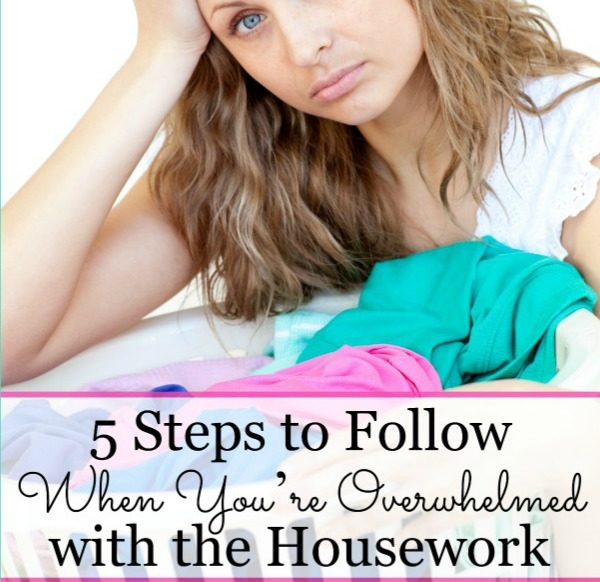 5 Steps to follow when you're overwhelmed with the housework @mbream