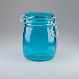 Turquoise Glass Jars
