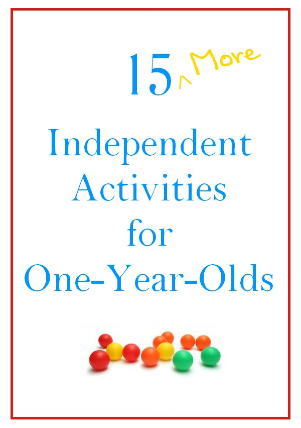 Worksheets For 1 Year Olds : More independent activities for one year olds