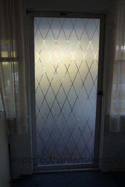 Spray Paint Glass Door