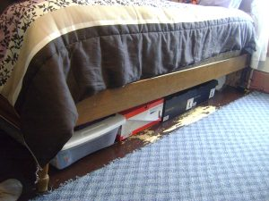 store things under the bed