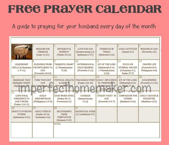 Free Prayer Calendar