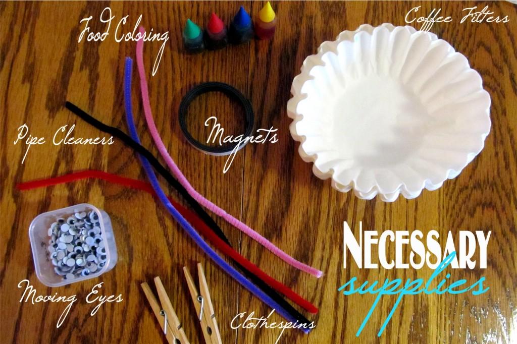Spring Craft for Kids: Coffee Filter Butterflies