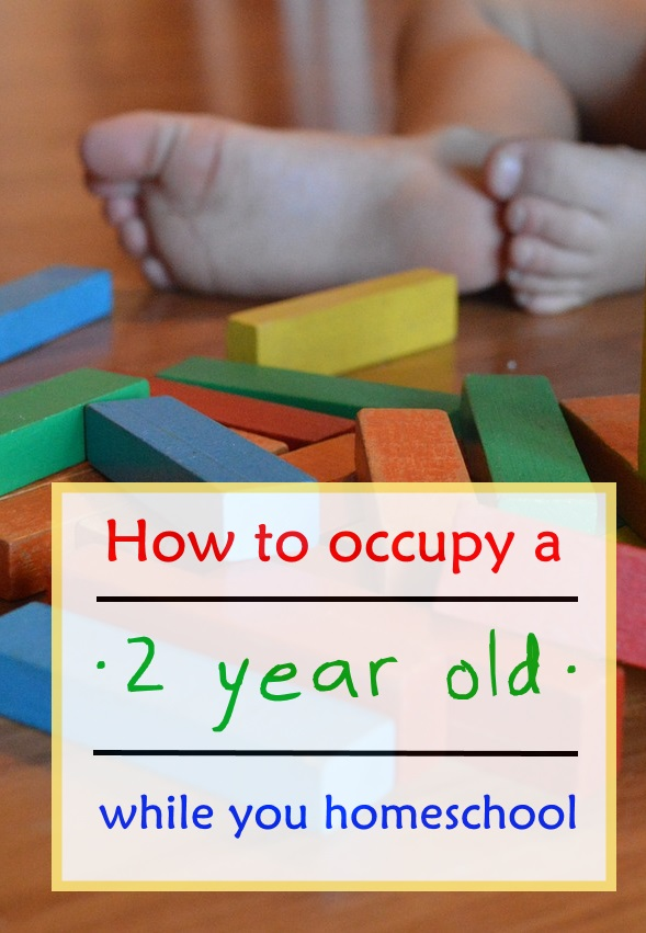 How to Occupy a 2 Year Old While You Homeschool - very helpful!