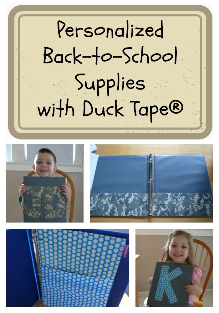Personalized Back to School Supplies with Duck Tape
