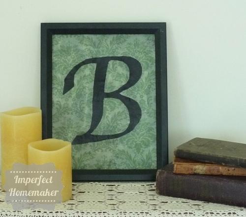 Framed Fabric Monogram