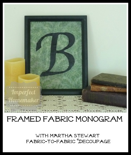 Framed Fabric Monogram