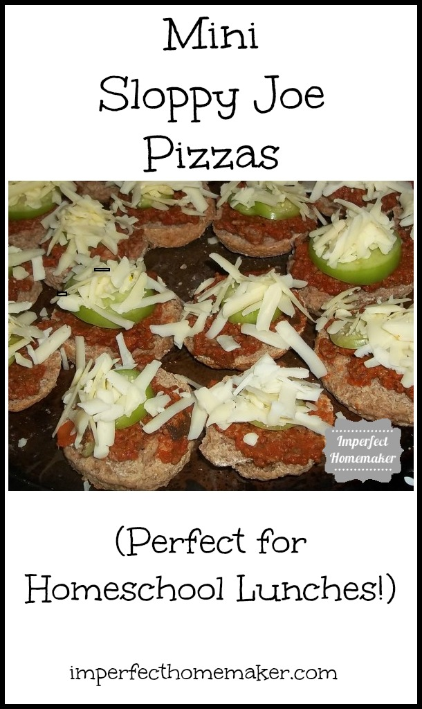Mini Sloppy Joe Pizzas