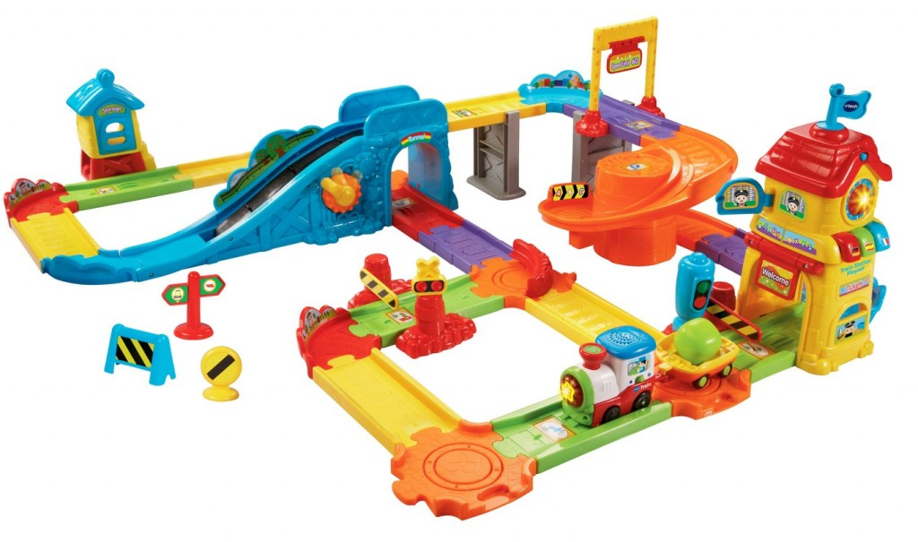 Toy Trains For Two Year Olds : Educational toy vtech go smart wheels train station