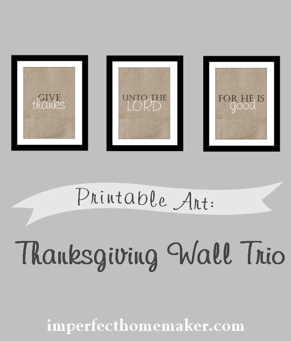 Printable Thanksgiving Wall Art