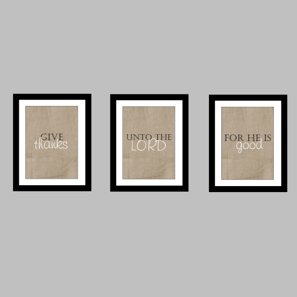 Printable Thanksgiving Wall Trio