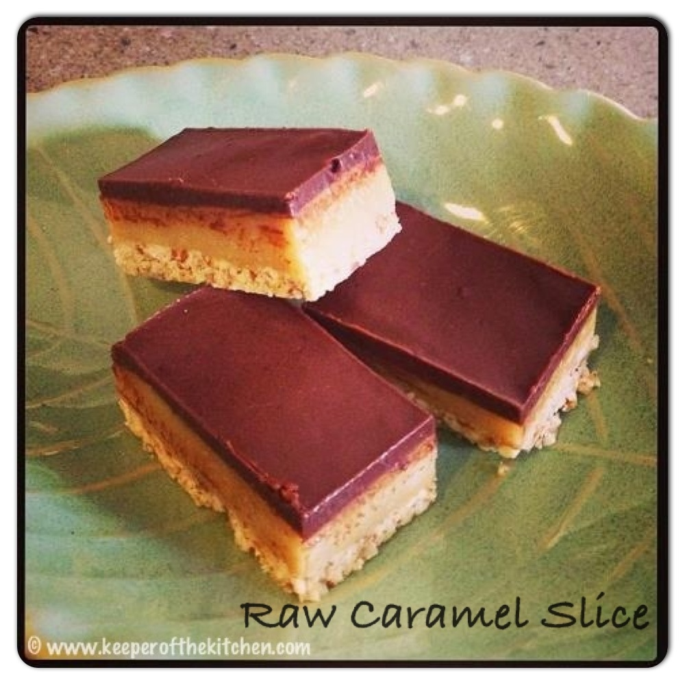 Raw Caramel Slice