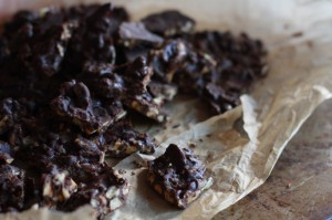 Crispy Nut Chocolate Brittle
