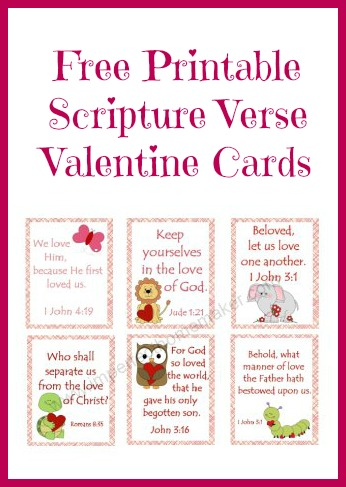 Free printable scripture verse valentines for Inspirational valentine crafts