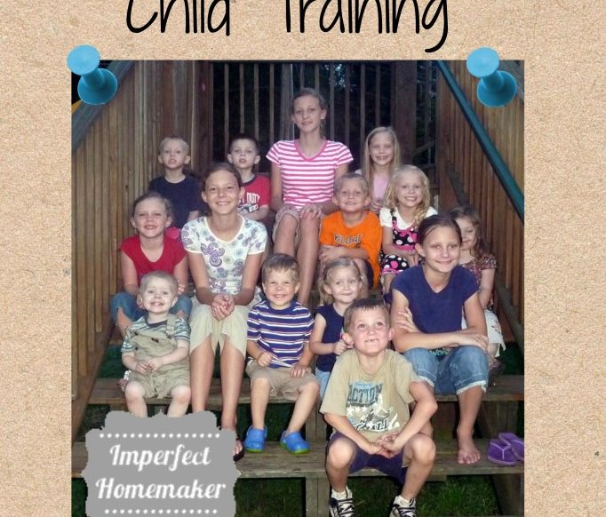 Thoughts about child training from a grandmother of 17