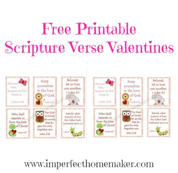 Free Printable Scripture Verse Valentines