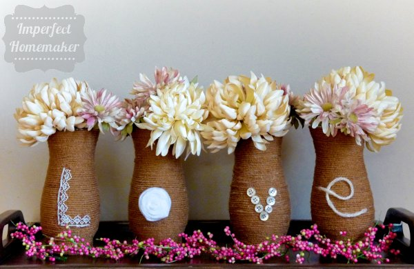 DIY Valentine's Day Vases