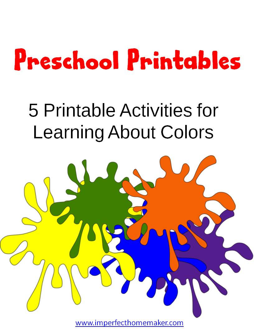 Preschool Colors Printables
