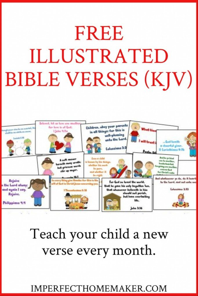Free illustrated Bible verses (KJV)