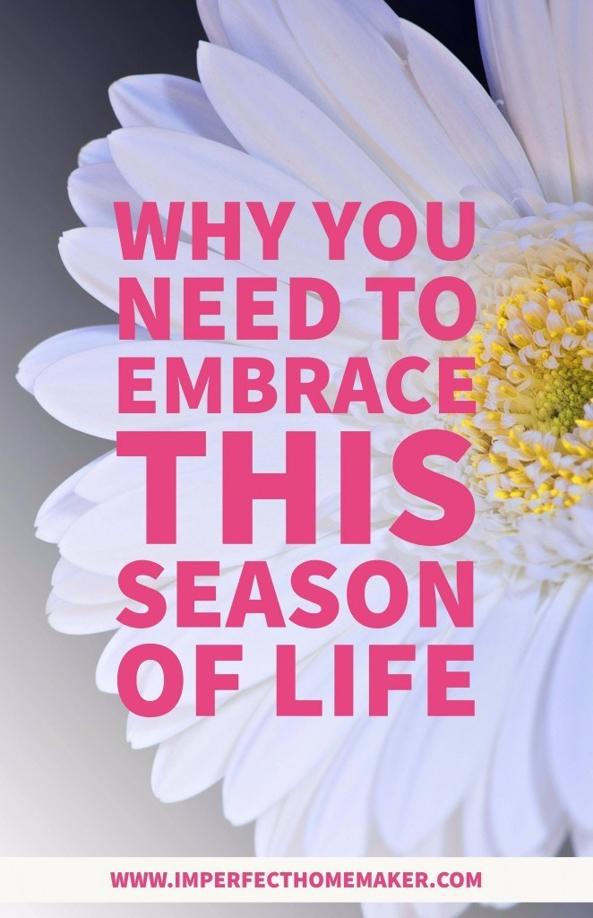 Why you need to embrace this season of life imperfect homemaker why you need to embrace this season of life christian homemaking encouragement kristyandbryce Image collections
