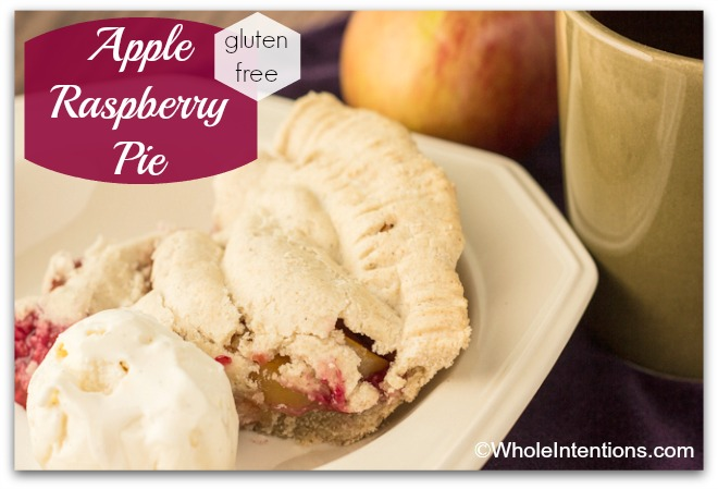 Gluten Free Apple Raspberry Pie - with real food ingredients!
