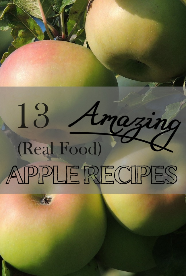 These apple recipes look sooo good!  They all use real, whole-food ingredients too, which I love!  There are some dishes I've never seen and really want to try this fall.