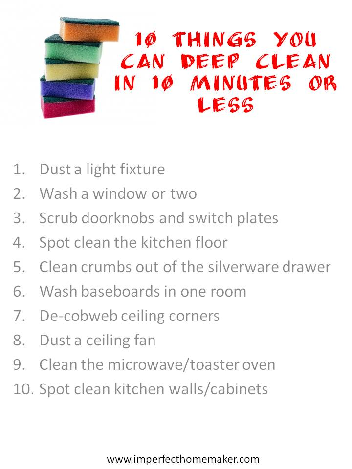 10 Things You Can Deep Clean in 10 Minutes or Less!