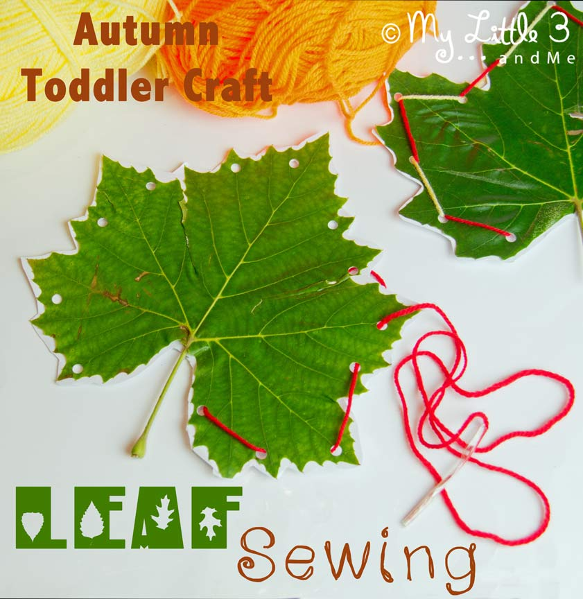 Autumn Leaf Sewing Activity