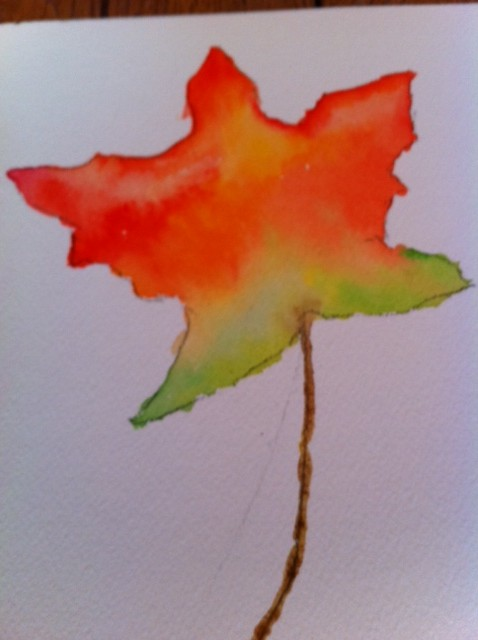 Leaf Watercolor craft