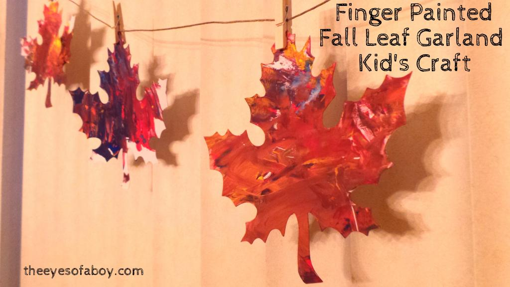 Finger Painted Leaf Fall Garland