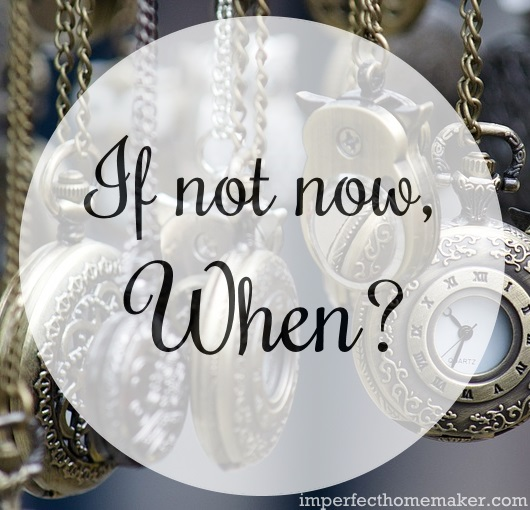 If Not Now, When? | What a great reminder to stop procrastinating! | From imperfecthomemaker.com