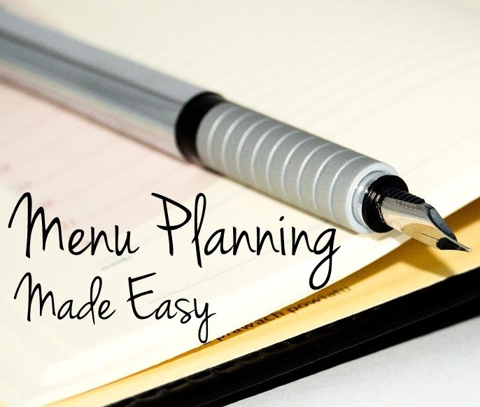 Menu Planning Made Easy - It doesn't have to take forever or be complicated. This will save our family so much time and help us eat healthier too!