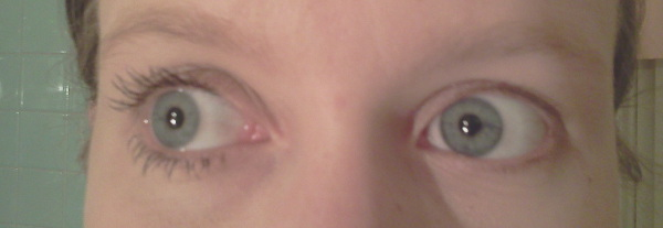 my eyes with Moodstruck 3D fiber lashes