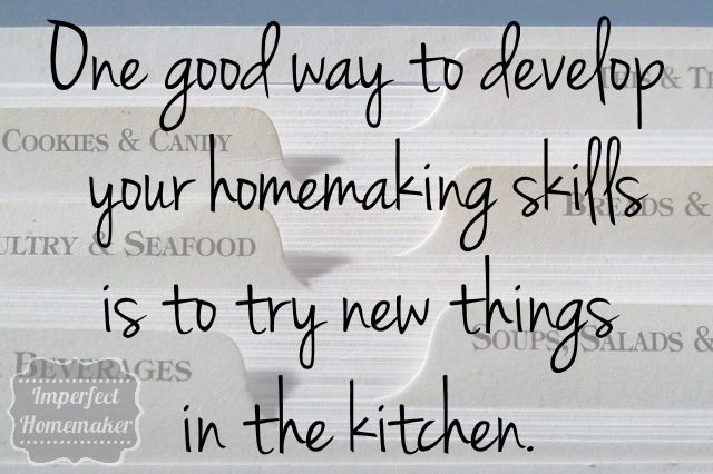 Good advice from Imperfect Homemaker