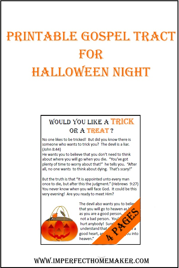 Printable Halloween Tract