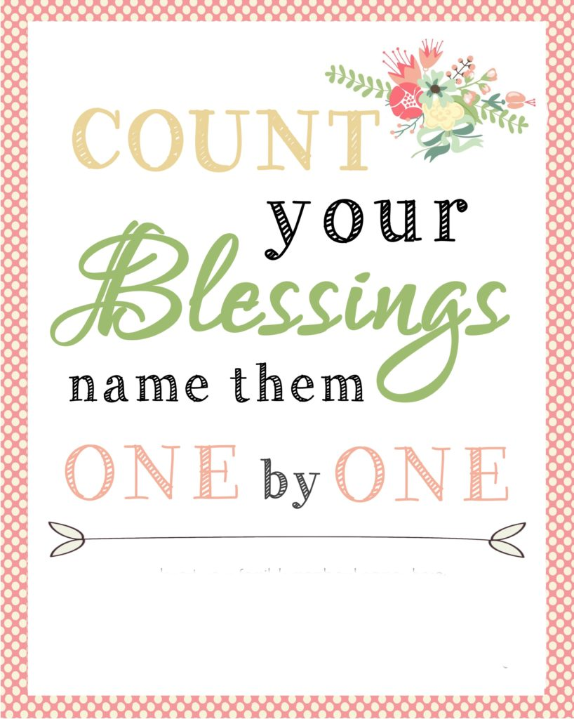 Count your blessings printable - awesome last minute gift idea for mom or grandma!