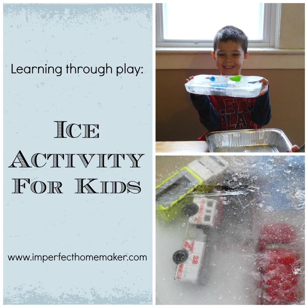 Ice play activity for kids - teaches them about the melting point of ice, plus it's just plain fun!