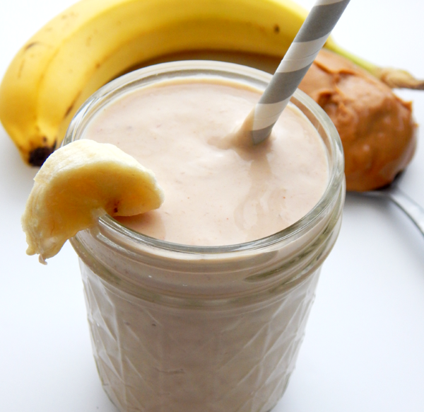 Peanut Butter Banana Protein Smoothie. Kid approved!