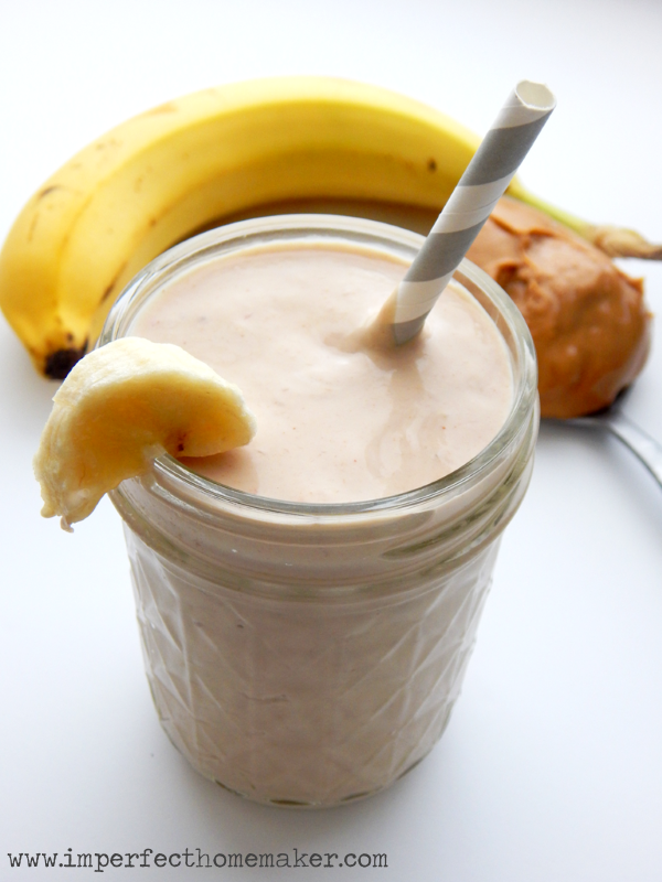 pb banana protein smoothie