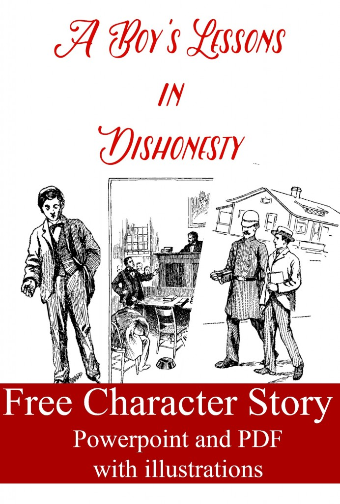 A Boy's Lessons in Dishonesty: Free Character Training Story powerpoint and PDF
