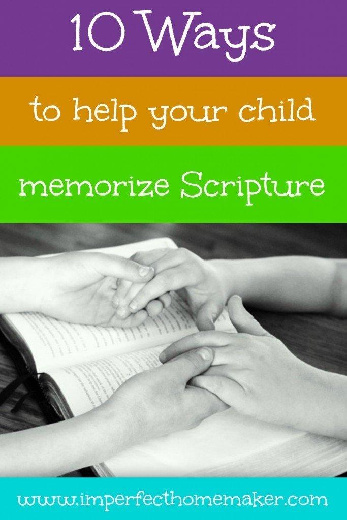 How to Help Your Child Memorize Scripture