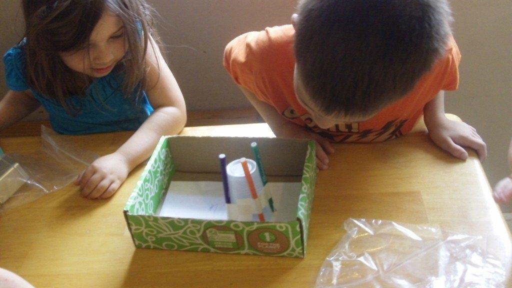 My kids enjoying their box this month!