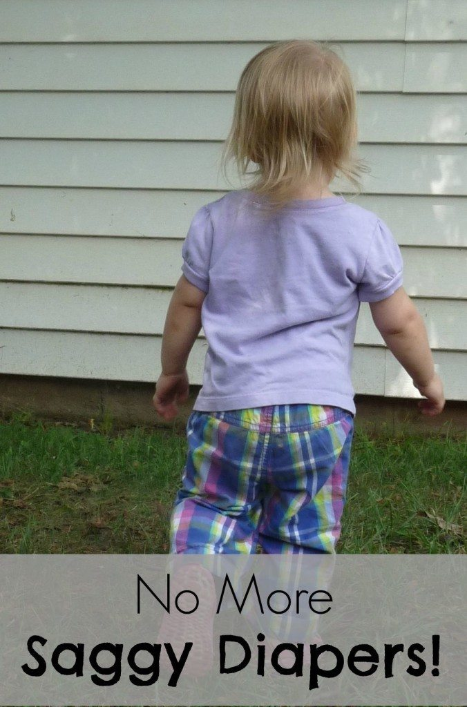 "Do you ever look at your child from behind and think ""Wow, that looks awful! It looks like her diaper hasn't been changed in a week!"" Here's how we got rid of the saggy diaper look!"