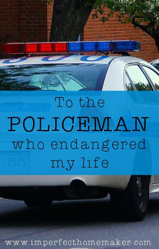 To the policeman who endangered my life - this may not be what you think it is | @mbream