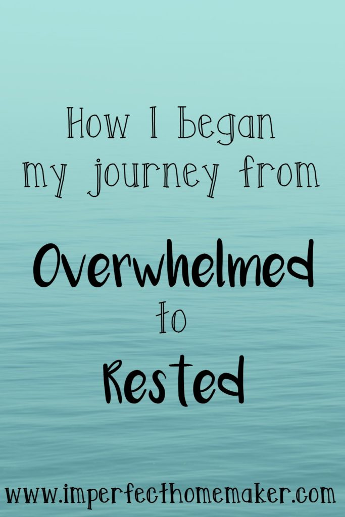 My journey from overwhelmed to rested | @mbream