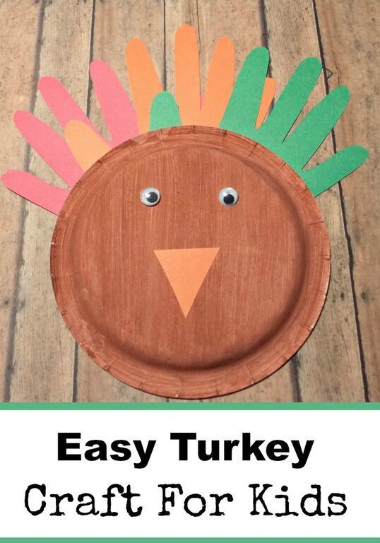 Easy Turkey Craft for Kids | @mbream