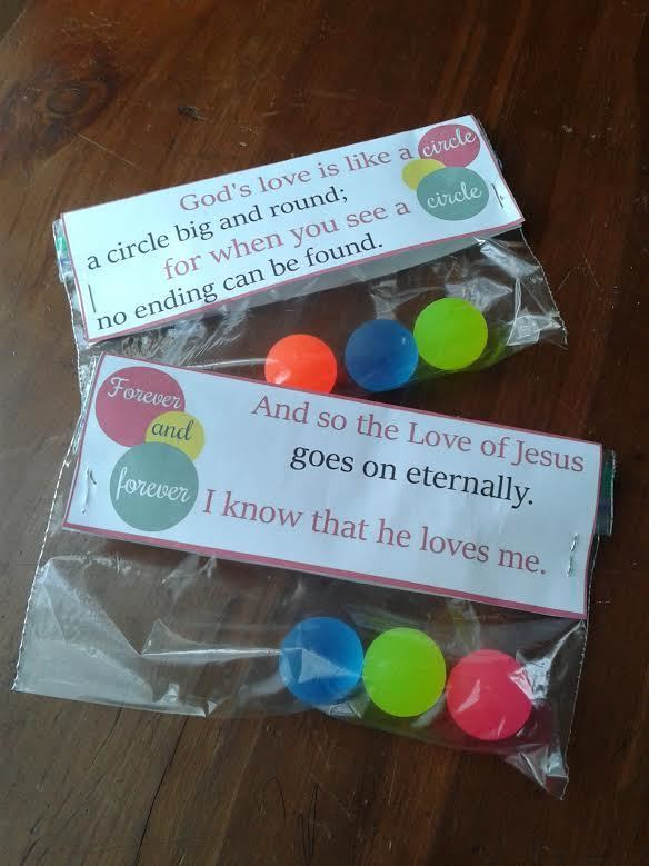 God's Love is Like a Circle - Printable Valentines for Christian Kids