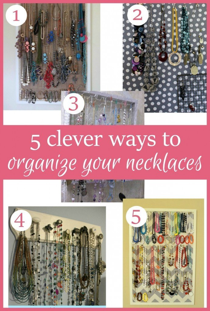 Organize Your Necklaces with these simple DIY projects