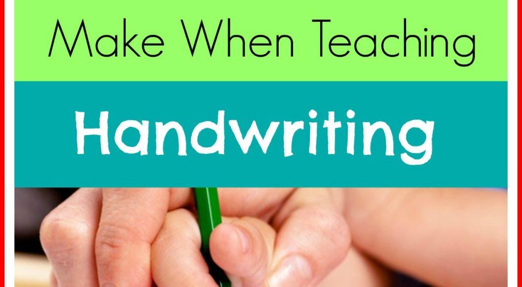 3 Mistakes Homeschooling Parents Make When Teaching Handwriting
