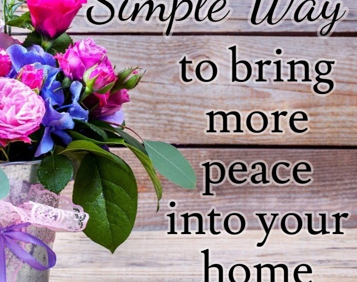 One Simple Way to Bring More Peace Into Your Home | Christian Homemaking